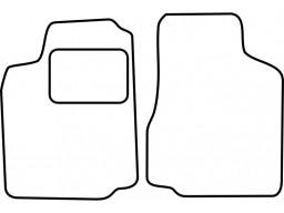 Autokoberce textilné VW Caddy (od r.v. 1996 do r.v. 2004)