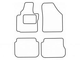 Autokoberce textilné VW Caddy Combi (5-miest, bez fixácií, od r.v. 2004)