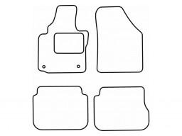 Autokoberce textilné VW Caddy Combi (5-miest, orig. fixácia na LP, od r.v. 2004)