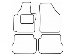 Autokoberce textilné VW Caddy Life (bez fixácií, od r.v. 2004)