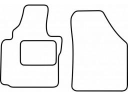 Autokoberce textilné VW Caddy (predné, bez fixácie, od r.v. 2004)