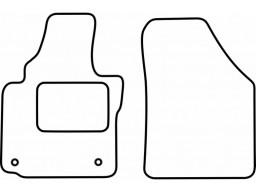 Autokoberce textilné VW Caddy (predné, orig. fixácia na LP, od r.v. 2004)