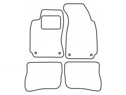 Autokoberce textilné VW Passat B5 (fixácia i na zadných dieloch, od r.v. 1997 do r.v. 2005)