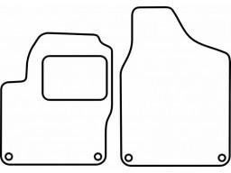 Autokoberce textilné VW Sharan I. (predné s orig. fixáciou, od r.v. 1997 do r.v. 2010)