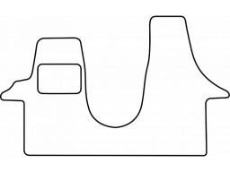 Autokoberce textilné VW Transporter T5 (1 diel, od r.v. 2003)