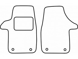 Autokoberce textilné VW Transporter T5 (predné, 2 diely, orig. fixácia, od r.v. 2003)