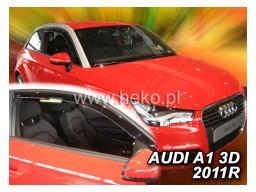 Deflektory - protiprievanové plexi Audi A1 (3-dverový, od r.v. 2010)