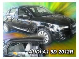 Deflektory - protiprievanové plexi Audi A1 (+zadné, 5-dverový, od r.v. 2012)