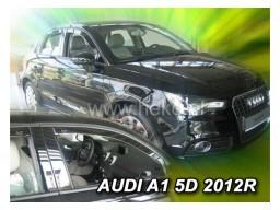 Deflektory - protiprievanové plexi Audi A1 (5-dverový, od r.v. 2012)