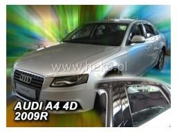 Deflektory - protiprievanové plexi Audi A4 Sedan B8 (+zadné, 4-dverový, od r.v. 2009)