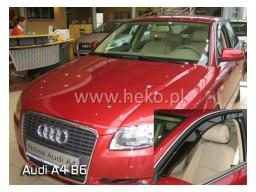 Deflektory - protiprievanové plexi Audi A4 Sedan B6, B7 (+zadné, 4-dverový, od r.v. 2002)