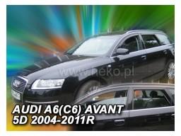 Deflektory - protiprievanové plexi Audi A6 Combi C6 (+zadné, 5-dverový, od r.v. 2004 do r.v. 2011)