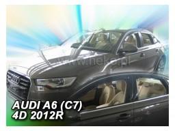 Deflektory - protiprievanové plexi Audi A6 Sedan C7 (+zadné, 4-dverový, od r.v. 2011)