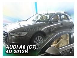 Deflektory - protiprievanové plexi Audi A6 Sedan C7 (5-dverový, od r.v. 2011)