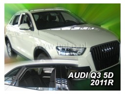 Deflektory - protiprievanové plexi Audi Q3 (+zadné, 5-dverový, od r.v. 2011)
