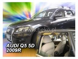 Deflektory - protiprievanové plexi Audi Q5 (+zadné, 5-dverový, od r.v. 2009)