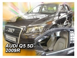 Deflektory - protiprievanové plexi Audi Q5 (5-dverový, od r.v. 2009)