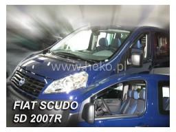 Deflektory - protiprievanové plexi Fiat Scudo (2-dverový, od r.v. 2007)