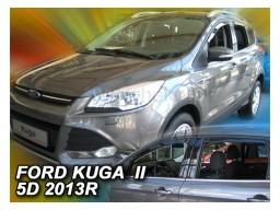 Deflektory - protiprievanové plexi Ford Kuga II. (+zadné, 5-dverový, od r.v. 2012)