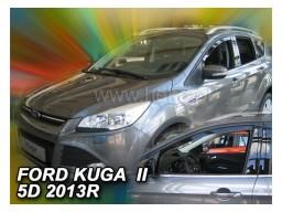 Deflektory - protiprievanové plexi Ford Kuga II. (5-dverový, od r.v. 2012)