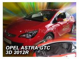 Deflektory - Protiprievanové plexi Opel Astra  J GTC (3-dverový, od r.v. 2010)