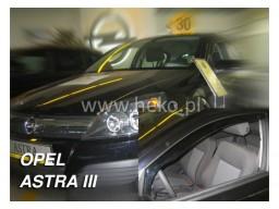Deflektory - Protiprievanové plexi Opel Astra H Hatchback (+zadné, 5-dverový, od r.v. 2004)