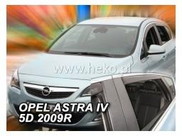 Deflektory - Protiprievanové plexi Opel Astra J Sedan / Hatchback (+zadné, 5-dverový, od r.v. 2009)