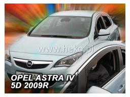 Deflektory - protiprievanové plexi Opel Astra J Combi (+zadné, 5-dverový, od r.v. 2011)