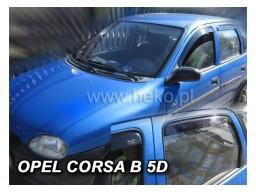 Deflektory - Protiprievanové plexi Opel Corsa B (+zadné, 5-dverový, od r.v. 1993-2001)