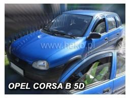Deflektory - Protiprievanové plexi Opel Corsa B (5-dverový, od r.v. 1993 do r.v. 2001)