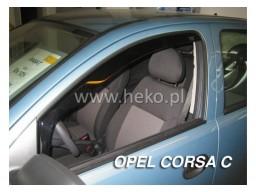 Deflektory - Protiprievanové plexi Opel Corsa C (+zadné, 5-dverový, od r.v. 2000 do r.v. 2006)