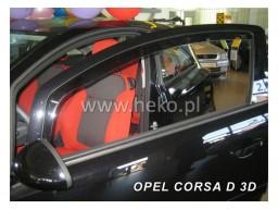 Deflektory - Protiprievanové plexi Opel Corsa D (3-dverový, od r.v. 2006)
