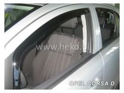 Deflektory - Protiprievanové plexi Opel Corsa D (+zadné, 5-dverový, od r.v. 2006)