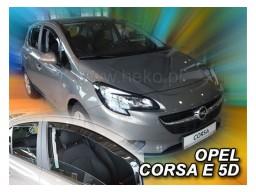 Deflektory - Protiprievanové plexi Opel Corsa E (+zadné, 5-dverový, od r.v. 2015)