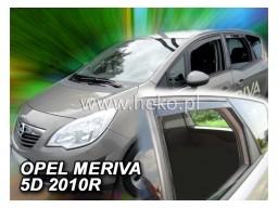 Deflektory - Protiprievanové plexi Opel Meriva B (+zadné, 5-dverový, od r.v. 2010)