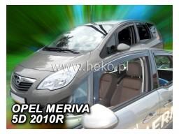 Deflektory - Protiprievanové plexi Opel Meriva B (5-dverový, od r.v. 2010)