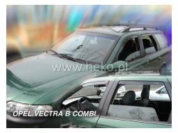 Deflektory - Protiprievanové plexi Opel Vectra B (+zadné, 5-dverový, od r.v. 1996-2002 Combi)
