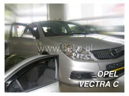 Deflektory - Protiprievanové plexi Opel Vectra C Sedan (+zadné, 4-dverový, od r.v. 2002)