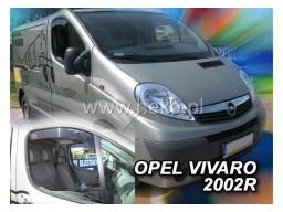Deflektory - Protiprievanové plexi Opel Vivaro A (2-dverový, od r.v. 2001)