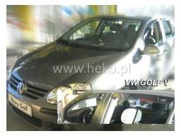 Deflektory - Protiprievanové plexi VW Golf V. (+zadné, 5-dverový, od r.v. 2004)
