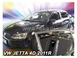 Deflektory - Protiprievanové plexi VW Jetta Sedan (+zadné, 4-dverový, od r.v. 2011)
