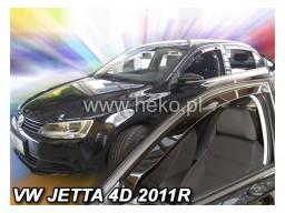 Deflektory - Protiprievanové plexi VW Jetta Sedan (4-dverový, od r.v. 2011)