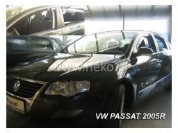 Deflektory - Protiprievanové plexi VW Passat B7 Sedan (+zadné, 4-dverový, od r.v. 2005)
