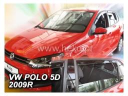 Deflektory - Protiprievanové plexi VW Polo V. (+zadné, 5-dverový, od r.v. 2009)
