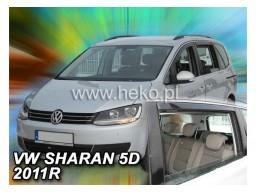 Deflektory - Protiprievanové plexi VW Sharan II. 5d (od r.v. 2010)
