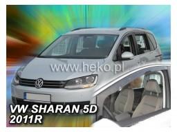 Deflektory - Protiprievanové plexi VW Sharan II. (5-dverový, od r.v. 2010)