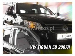 Deflektory - Protiprievanové plexi VW Tiguan (+zadné, 5-dverový, od r.v. 2008)