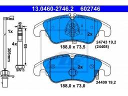 Brzdové platničky ATE 13.0460-2746.2 (predné)
