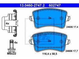 Brzdové platničky ATE 13.0460-2747.2 (zadné)