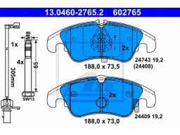 Brzdové platničky ATE 13.0460-2765.2 (predné)